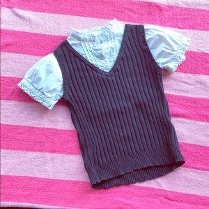 Children's Place Girl sweater vest uniform top-7/8